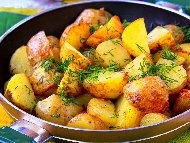 Лесни сотирани картофи (варени картофи соте)